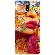 Силиконовый чехол BoxFace Samsung J530 Galaxy J5 2017 Yellow Girl Pop Art (30575-up2442)