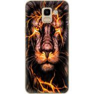 Силиконовый чехол BoxFace Samsung J600 Galaxy J6 2018 Fire Lion (33861-up2437)