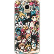 Силиконовый чехол BoxFace Samsung J600 Galaxy J6 2018 Anime Stickers (33861-up2458)