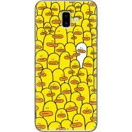 Силиконовый чехол BoxFace Samsung J610 Galaxy J6 Plus 2018 Yellow Ducklings (35408-up2428)