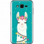 Силиконовый чехол BoxFace Samsung J700H Galaxy J7 Cold Llama (24496-up2435)