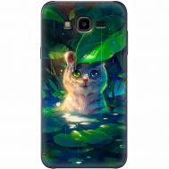 Силиконовый чехол BoxFace Samsung J700H Galaxy J7 White Tiger Cub (24496-up2452)