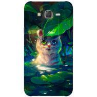 Силиконовый чехол BoxFace Samsung J500H Galaxy J5 White Tiger Cub (25242-up2452)