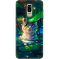 Силиконовый чехол BoxFace Samsung J810 Galaxy J8 2018 White Tiger Cub (34856-up2452)