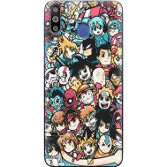 Силиконовый чехол BoxFace Samsung M305 Galaxy M30 Anime Stickers (36973-up2458)