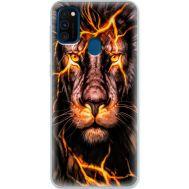 Силиконовый чехол BoxFace Samsung M215 Galaxy M21 Fire Lion (39465-up2437)