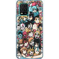 Силиконовый чехол BoxFace Xiaomi Mi 10 Lite Anime Stickers (39438-up2458)