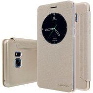 Кожаный чехол (книжка) Nillkin Spakle Series для Samsung N930F Note 7 Duos золотой