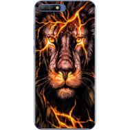 Силиконовый чехол BoxFace Huawei Y6 2018 Fire Lion (33371-up2437)