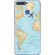 Силиконовый чехол BoxFace Huawei Y6 Prime 2018 / Honor 7A Pro Карта (33830-up2434)