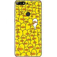 Силиконовый чехол BoxFace Huawei Y7 Prime 2018 Yellow Ducklings (33373-up2428)