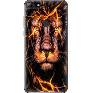 Силиконовый чехол BoxFace Huawei Y7 Prime 2018 Fire Lion (33373-up2437)
