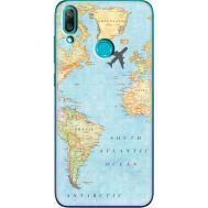 Силиконовый чехол BoxFace Huawei Y7 2019 Карта (36044-up2434)