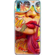 Силиконовый чехол BoxFace Huawei Y7 Pro 2019 Yellow Girl Pop Art (36651-up2442)