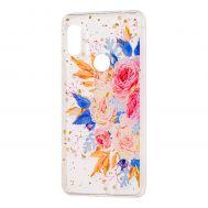 "Чехол для Xiaomi Redmi Note 6 Pro Flowers Confetti ""кустовая роза"""
