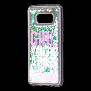 """Чехол для Samsung Galaxy S8 (G950) Блестки вода светло-розовый """"босс"""""""