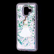 """Чехол для Samsung Galaxy A6 2018 (A600) вода светло-розовый """"девушка в белом платье"""""""