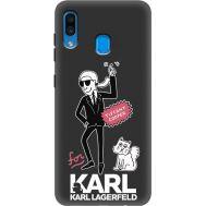 Силиконовый чехол BoxFace Samsung A205 Galaxy A20 For Karl (38282-bk38)
