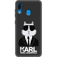Силиконовый чехол BoxFace Samsung A205 Galaxy A20 Cat in Black (38282-bk39)