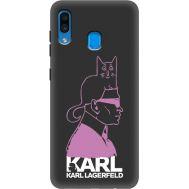 Силиконовый чехол BoxFace Samsung A205 Galaxy A20 Pink Karl (38282-bk40)