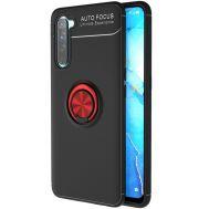 Чехол для Realme 6 Pro Deen ColorRing с кольцом черный / красный