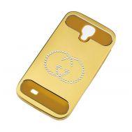 Чехол со стразами для Samsung i9500 Galaxy S4 золотистый