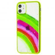Чехол для iPhone 11 Colorful Rainbow зеленый