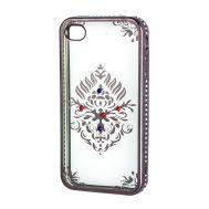 Чехол для iPhone 4 Kingxbar силиконовый серый герб