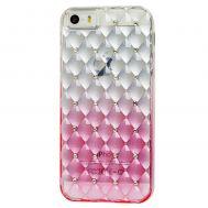 Чехол Gelin для iPhone 5 gradient розовый
