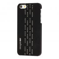 Чехол Discovery Buy для iPhone 5 со стразами прямыми черный