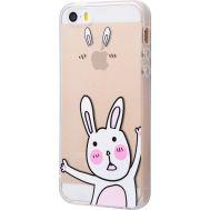 Чехол для iPhone 5 силиконовый с принтом кролик