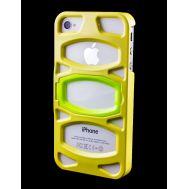 Накладка с подставкой для iPhone 4 iLuv Case желтый