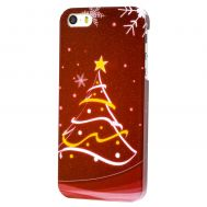 Чехол Merry Christmass для iPhone 5 елка