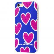 Чехол Aru PC для iPhone 5 сердце