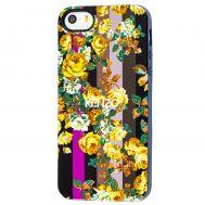 Чехол Kenzo для iPhone 5 цветы с полосками