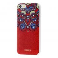 Чехол Beckberg для iPhone 5 красный со стразами
