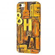 Чехол ibasi & Coer для iPhone 5 матовое покрытие слова