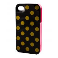 Накладка для iPhone 4 Kate Spade золотой горошек