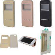 Книжка Totu Slide to Answer+holder для iPhone 5/5s розовая