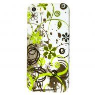 Чехол Crystal для iPhone 5 со старазами цветы