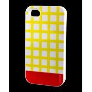 Накладка для iPhone 4 Araree Case желтый / красный