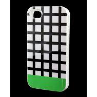 Накладка для iPhone 4 Araree Case черный / зеленый