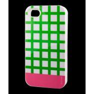 Накладка для iPhone 4 Araree Case зеленый / розовый