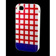 Накладка для iPhone 4 Araree Case красный / фиолетовый