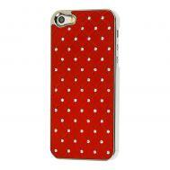 Чехол Diamond  iPhone 5 со стразами красный