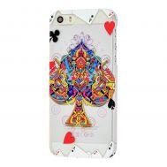 Накладка для iPhone 5 Poker Soft Touch карты