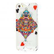 Чехол для iPhone 5 Poker матовое покрытие карта