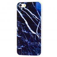 Чехол для iPhone 5 MraMor синий с белым узором