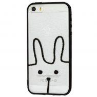 """Чехол для iPhone 5 Minimal print """"заяц"""""""