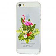 Чехол для iPhone 5 фламинго